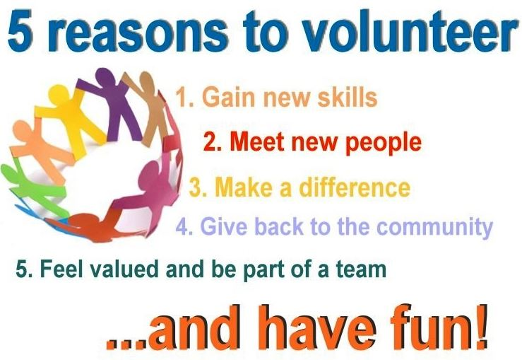 Reasons to Volunteer Picture